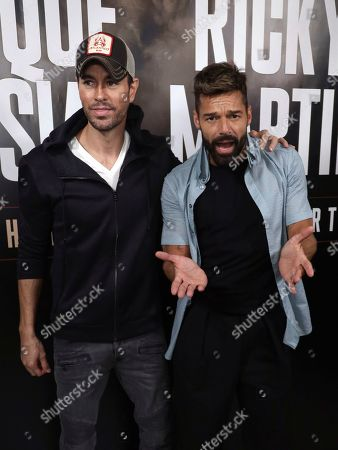 Editorial photo of Enrique Iglesias and Ricky Martin Press Conference, West Hollywood, USA - 04 Mar 2020