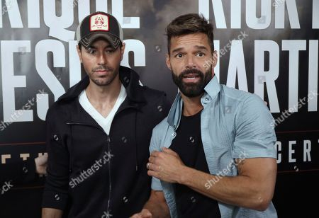 Editorial image of Enrique Iglesias and Ricky Martin Press Conference, West Hollywood, USA - 04 Mar 2020