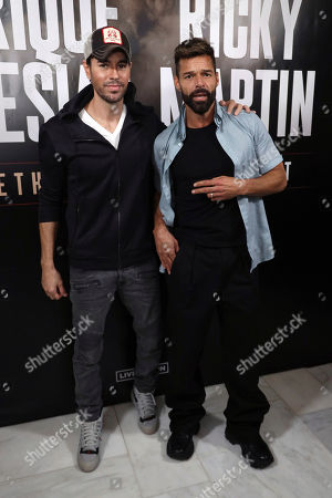 Editorial picture of Enrique Iglesias and Ricky Martin Press Conference, West Hollywood, USA - 04 Mar 2020