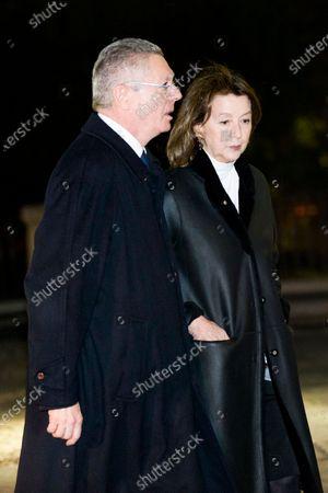 Stock Picture of Alberto Ruiz-Gallardon and Maria del Mar Utrera