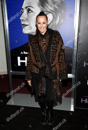 """Donna Karan attends the premiere of the Hulu documentary """"Hillary"""" at the DGA New York Theater, in New York"""
