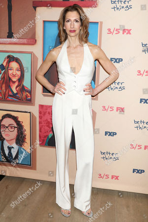 "Alysia Reiner attends the premiere of FX's ""Better Things"" at The Whitby Hotel, in New York"