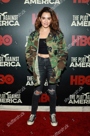 """Sepideh Moafi attends the premiere of HBO's """"The Plot Against America"""" at Florence Gould Hall, in New York"""