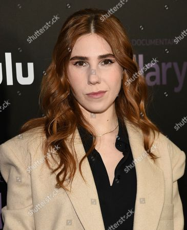 "Stock Image of Zosia Mamet attends the premiere of the Hulu documentary ""Hillary"" at the DGA New York Theater, in New York"