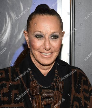 """Stock Photo of Donna Karan attends the premiere of the Hulu documentary """"Hillary"""" at the DGA New York Theater, in New York"""