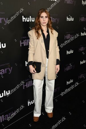 "Zosia Mamet attends the premiere of the Hulu documentary ""Hillary"" at the DGA New York Theater, in New York"