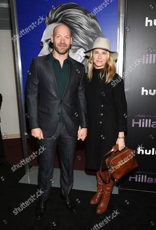 "Corey Stoll, Nadia Bowers. Corey Stoll, left, and wife Nadia Bowers attend the premiere of the Hulu documentary ""Hillary"" at the DGA New York Theater, in New York"