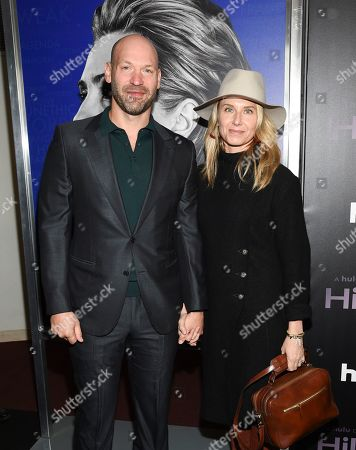 """Stock Picture of Corey Stoll, Nadia Bowers. Corey Stoll, left, and wife Nadia Bowers attend the premiere of the Hulu documentary """"Hillary"""" at the DGA New York Theater, in New York"""