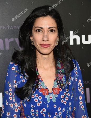 """Stock Image of Huma Abedin attends the premiere of the Hulu documentary """"Hillary"""" at the DGA New York Theater, in New York"""