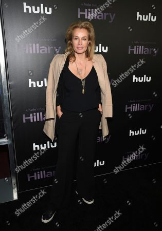 """Frederique Van Der Wal attends the premiere of the Hulu documentary """"Hillary"""" at the DGA New York Theater, in New York"""