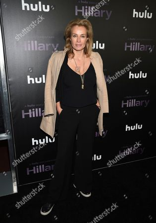 """Stock Image of Frederique Van Der Wal attends the premiere of the Hulu documentary """"Hillary"""" at the DGA New York Theater, in New York"""