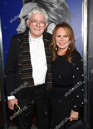 "Stock Photo of Phil Donahue, Marlo Thomas. Phil Donahue, left, and wife Marlo Thomas attend the premiere of the Hulu documentary ""Hillary"" at the DGA New York Theater, in New York"