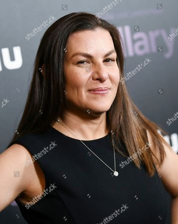 """Stock Picture of Nanette Burstein attends the premiere of the Hulu documentary """"Hillary"""" at the DGA New York Theater, in New York"""