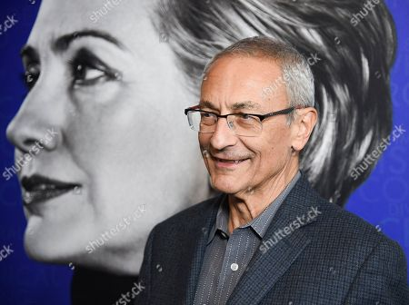 "Stock Photo of John Podesta attends the premiere of the Hulu documentary ""Hillary"" at the DGA New York Theater, in New York"