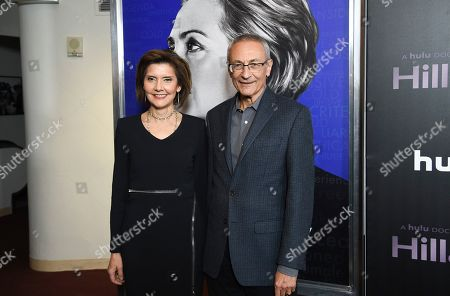 "Stock Picture of Capricia Marshall, John Podesta. Former Chief of Protocol of the United States Capricia Marshall, left, and former White House Chief of Staff John Podesta attend the premiere of the Hulu documentary ""Hillary"" at the DGA New York Theater, in New York"
