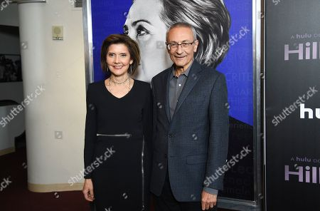"Capricia Marshall, John Podesta. Former Chief of Protocol of the United States Capricia Marshall, left, and former White House Chief of Staff John Podesta attend the premiere of the Hulu documentary ""Hillary"" at the DGA New York Theater, in New York"