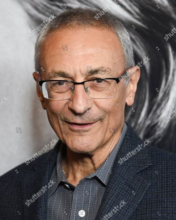 "Stock Image of John Podesta attends the premiere of the Hulu documentary ""Hillary"" at the DGA New York Theater, in New York"