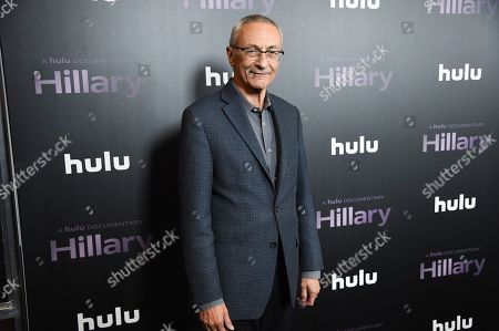 "John Podesta attends the premiere of the Hulu documentary ""Hillary"" at the DGA New York Theater, in New York"
