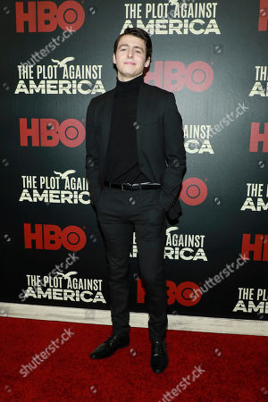 """Stock Photo of Anthony Boyle attends the premiere of HBO's """"The Plot Against America"""" at Florence Gould Hall, in New York"""