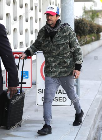 Editorial image of Adrien Brody out and about at LAX International Airport, Los Angeles, USA - 04 Mar 2020