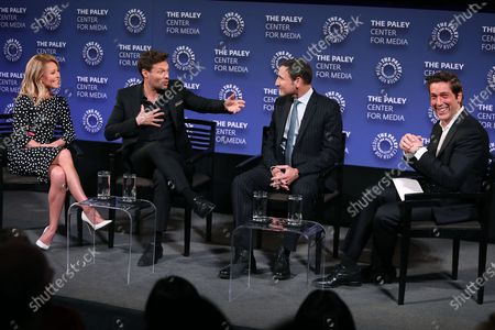 Kelly Ripa, Ryan Seacrest, Michael Gelman (Exec. Producer) and David Muir