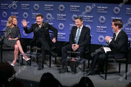 Stock Photo of Kelly Ripa, Ryan Seacrest, Michael Gelman (Exec. Producer) and David Muir