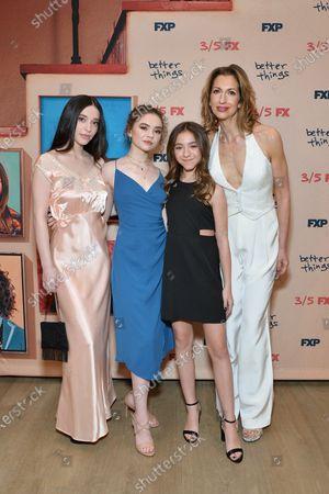 Alysia Reiner, Mikey Madison, Hannah Alligood and Olivia Edward