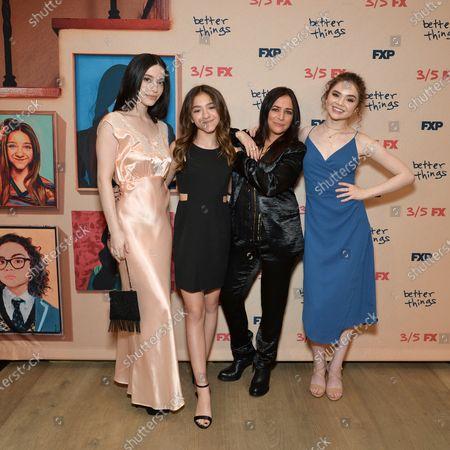 Mikey Madison, Olivia Edward, Hannah Alligood and Pamela Adlon