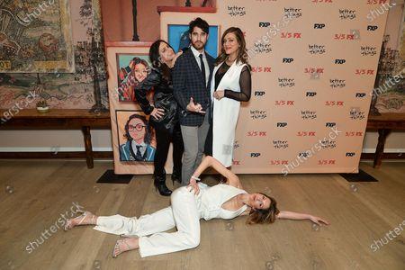 Pamela Adlon, Darren Criss, Mia Criss and Alysia Reiner