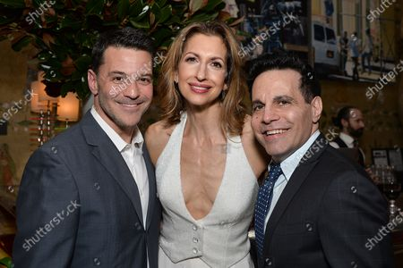 Stock Image of David Alan Basche, Alysia Reiner and Mario Cantone