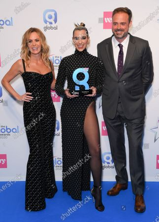 Stock Photo of Amanda Holden, Dua Lipa and Jamie Theakston