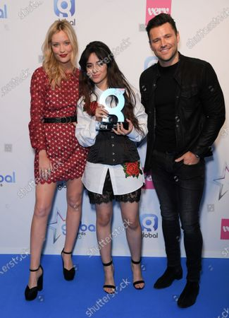 Laura Whitmore, Camila Cabello and Mark Wright