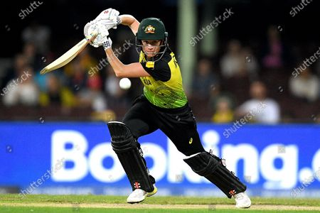 Alyssa Healy of Australia bats during the Women's T20 World Cup semi-final match between Australia and South Africa at the Sydney Cricket Ground (SCG) in Sydney, Australia, 05 March 2020.
