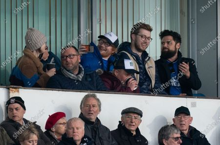 Stock Image of Ipswich Town Fan and Musician Ed Sheeran watches from the stands at Portman Road