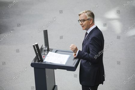 Die Linke ('The Left') party faction co-chairman Dietmar Bartsch delivers a speech during a session dedicated to far-right extremism and the Hanau shooting at the Bundestag (lower house of the German parliament) in Berlin, Germany, 05 March, 2020. The Bundestag session was titled 'Combating Far-Right Extremism and Hate Decisively - Consequences from the Right-Wing Terrorist Murders in Hanau.'