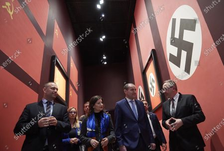 Icelandic President Gudni Thorlacius Johannesson (2-R) with his wife Eliza Jean Reid (2-L) and director of the Museum of the Second World War Karol Nawrocki (L) during their visit to the Museum of the Second World War in Gdansk, Poland, 05 March 2020. President of Iceland Gudni Thorlacius Johannesson with his wife continue their three-day official visit to Poland.