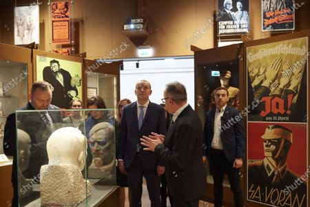 Icelandic President Gudni Thorlacius Johannesson (C-R) with his wife Eliza Jean Reid (C-L) and director of the Museum of the Second World War Karol Nawrocki (L) during their visit to the Museum of the Second World War in Gdansk, Poland, 05 March 2020. President of Iceland Gudni Thorlacius Johannesson with his wife continue their three-day official visit to Poland.