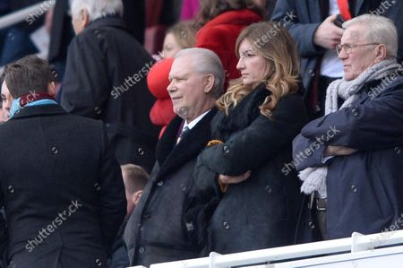 Karren Brady and David Gold the Premier League match between Arsenal and West Ham at the Emirates Stadium in London, UK - 7th March 2020