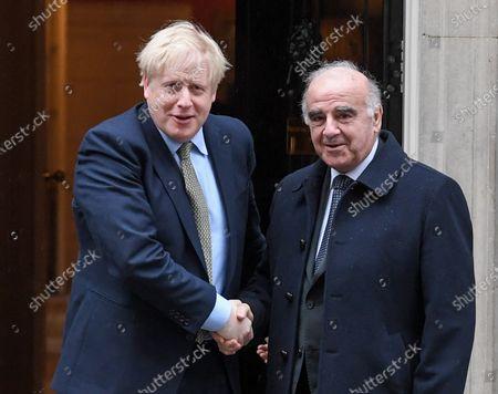 British Prime Minister Boris Johnson meeting President of Malta George Vella, at No.10 Downing Street, London.