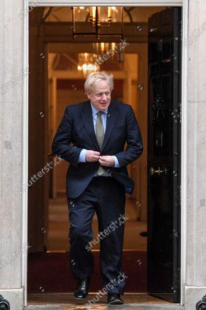 British Prime Minister Boris Johnson at No.10 Downing Street, London.