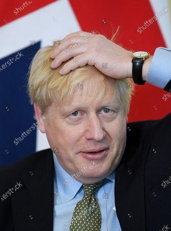 Boris Johnson in a bilateral meeting with President of Malta George Vella.