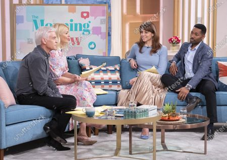 Phillip Schofield and Holly Willoughby with Beverley Turner and Des Coleman