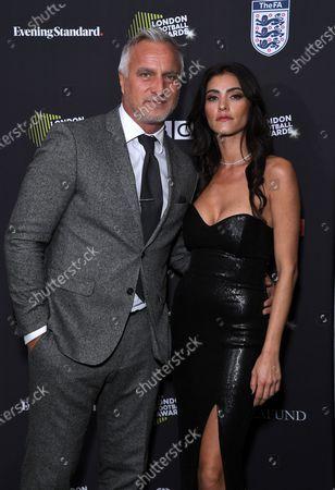 David Ginola and Maeva Dena