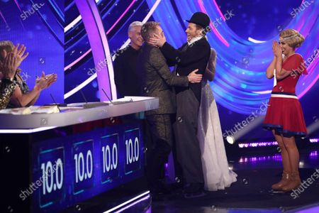 Christopher Dean, Phillip Schofield, Holly Willoughby, Joe Swash and Alex Murphy