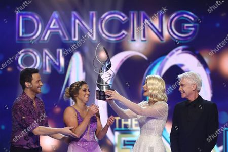 'Dancing On Ice 2020' winners Joe Swash and Alex Murphy with Holly Willoughby and Phillip Schofield