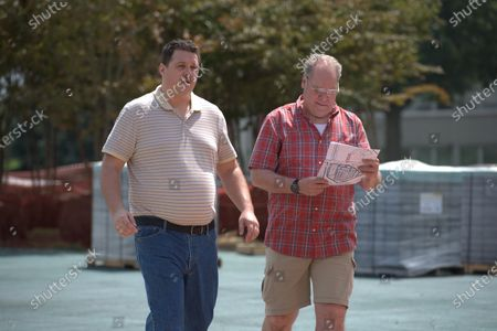 Stock Image of Cameron Britton as Richard Jewell and Jay O. Sanders as Watson Bryant