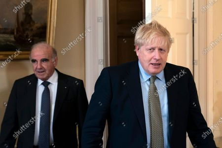 British Prime Minister Boris Johnson (R) meets with President of Malta George Vella (L) inside of 10 Downing Street in London, Britain, 05 March 2020.