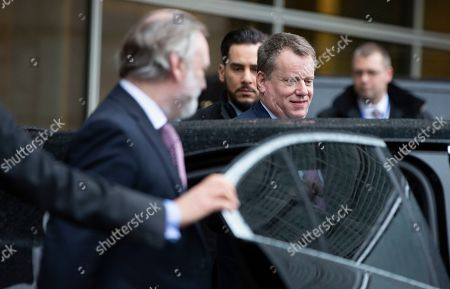 British prime ministers Europe advisor David Frost, center, and Britain's Permanent Representative to the EU Tim Barrow, left, leave EU headquarters in Brussels after the first week of EU-UK negotiations, . The negotiators for Brexit say there are many serious divergences between the 27-country bloc and the UK after the first round of negotiations aimed at defining their future relationship