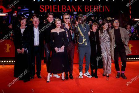 Stock Image of Heidrun Krol, Joachim Krol, Jochen Laube, Jella Haase, Albrecht Schuch, Welket Bungue, Burhan Qurbani