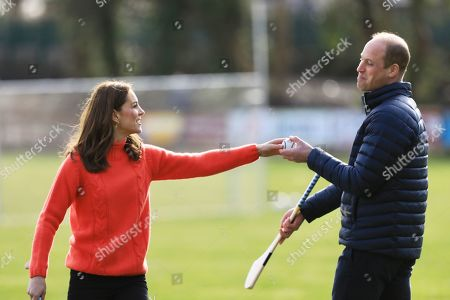 Stock Photo of Prince William and Catherine Duchess of Cambridge at Salthill Knocknacarra GAA Club in Galway